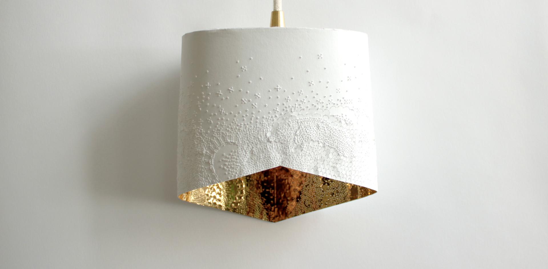 Baladeuse écaillée intérieur or
