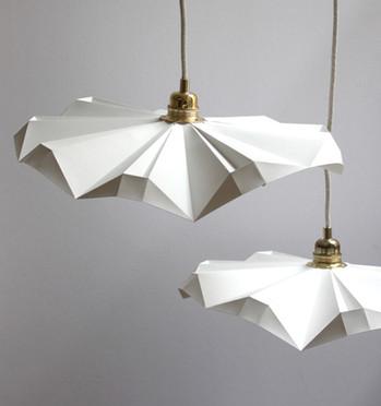 Lampe papier petite suspension envolée