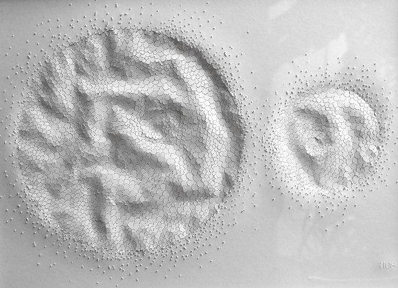 Cadre déco papier ciselé anne charlotte saliba