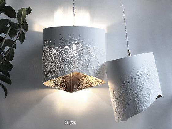 lampe papier baladeuse écaillée intérieur or