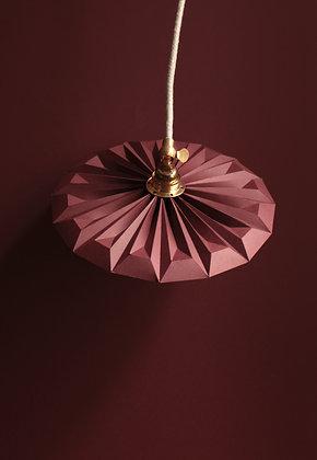 Lampe design papier petite baladeuse piléa rose bordeaux