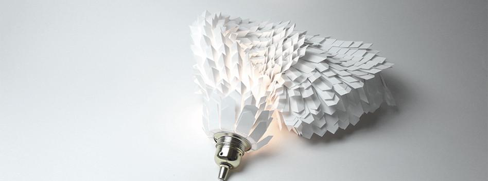 Lampe papier design Boa 50cms
