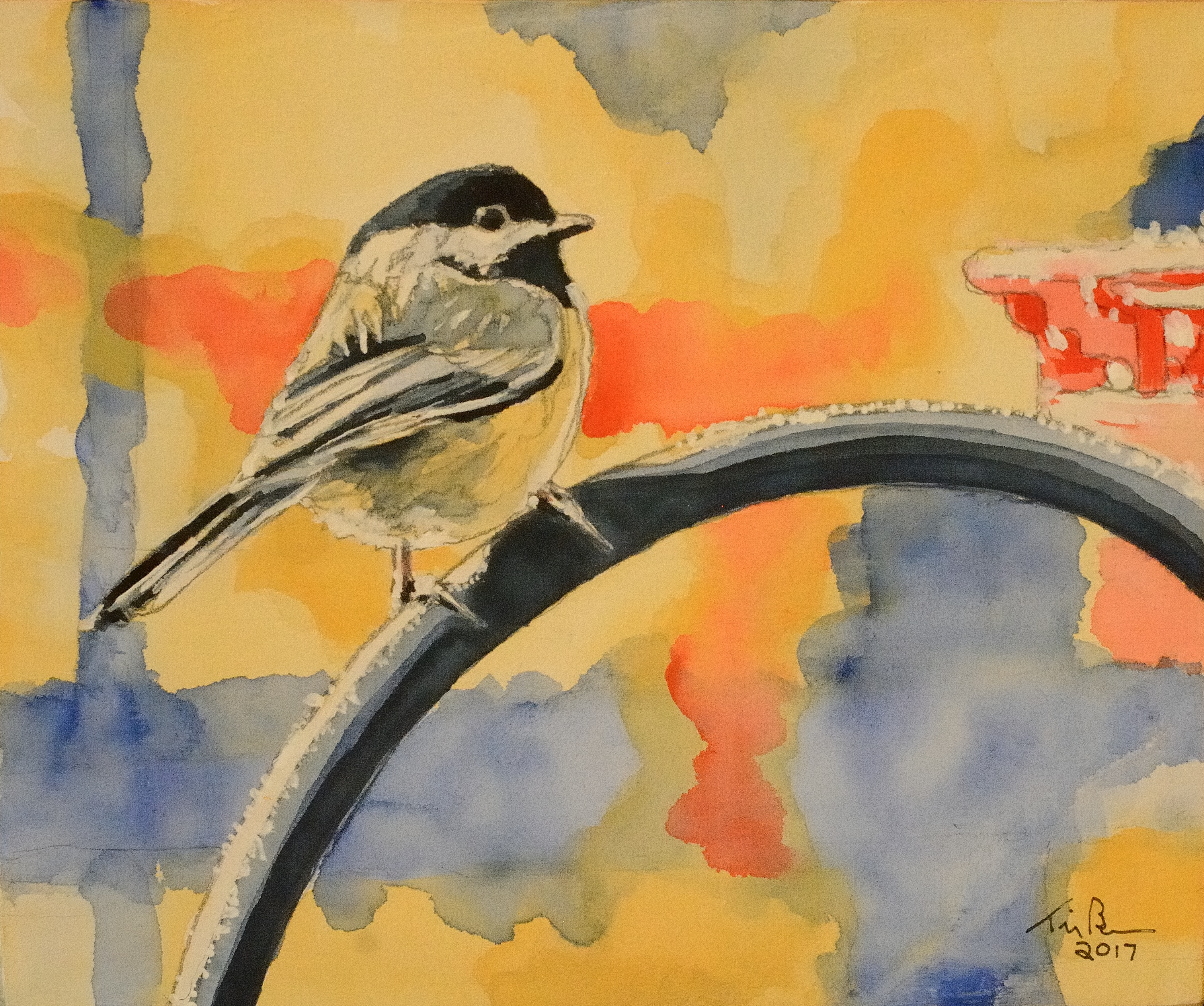 Frosty Morning 1: Chickadee