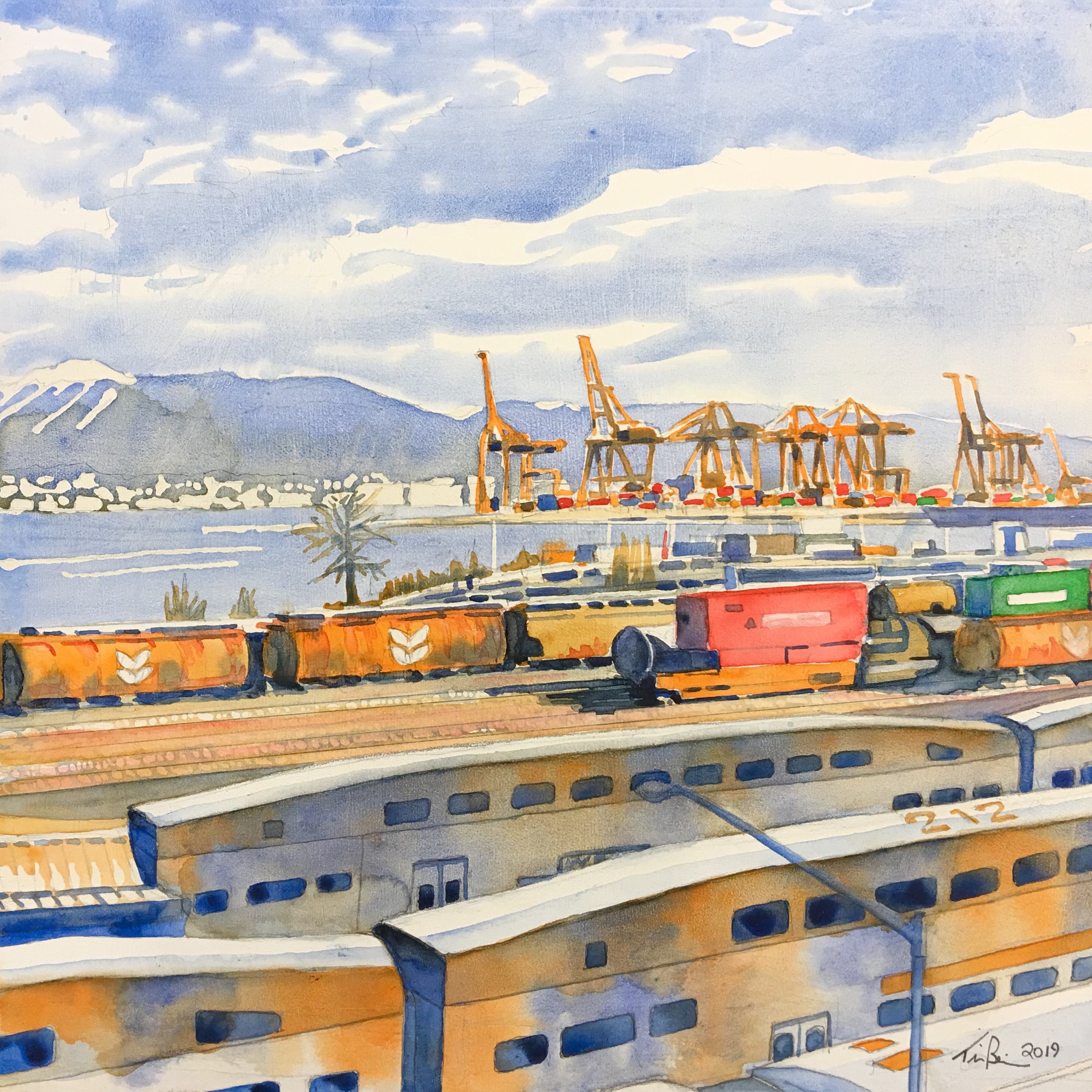 Port of Vancouver from Waterfront Statio