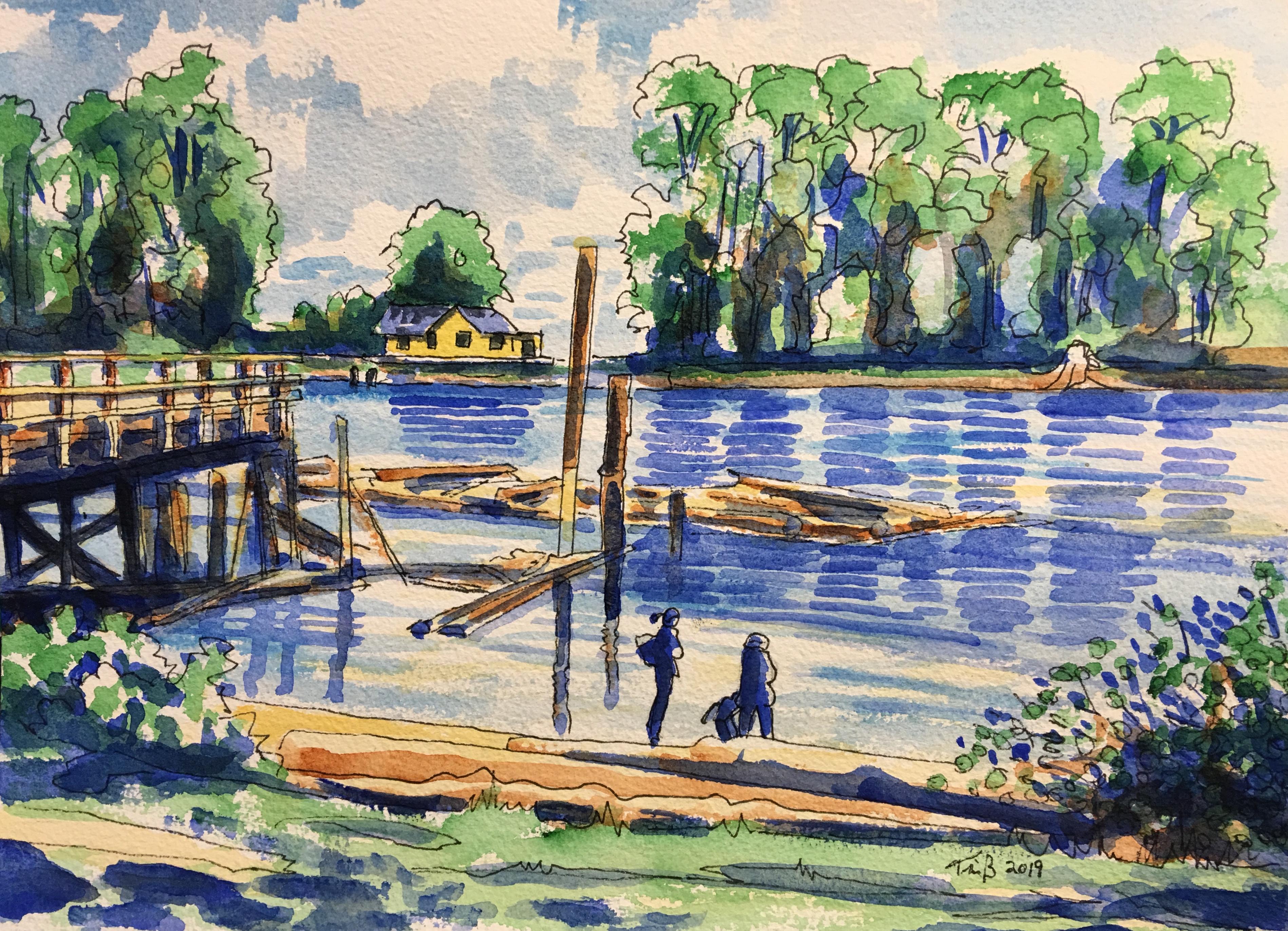 Fraser River Sketch