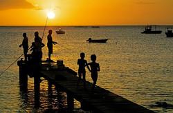Le ponton de la Plage Caraïbe