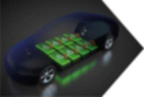 Electric Car showing battery packs inside