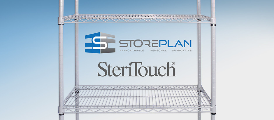 INTRODUCING STERIMESH™ WIRE SHELVING - PROTECTED BY STERITOUCH