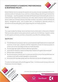 Radical Materials Ltd Pandemic Policy IC