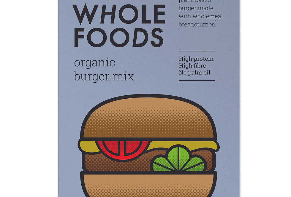Just Whole Foods Organic & Vegan Burger Mix - 125g