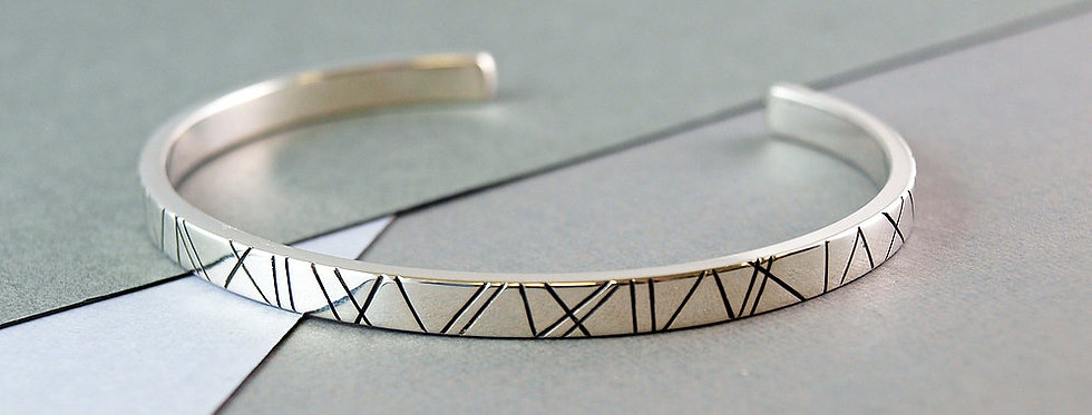 Emma Burfoot - Silver Wide Torque Bangle