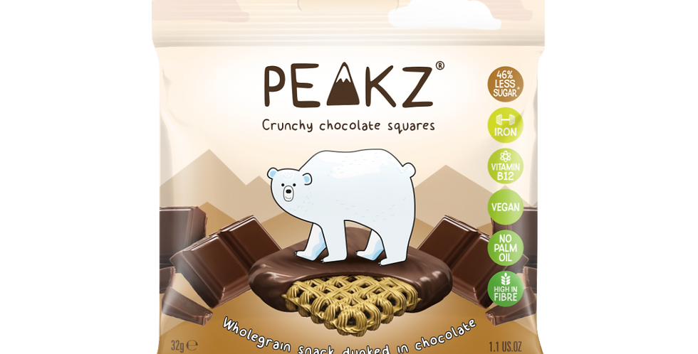 Peakz Plain Chocolate Squares 32g x 6