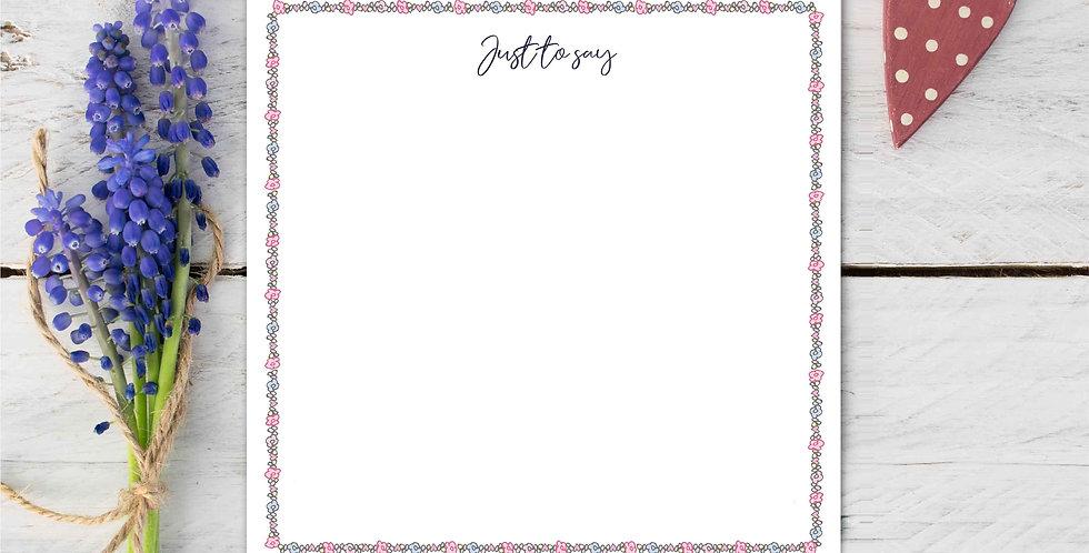 Marina B Designs - Ditsy Notecards