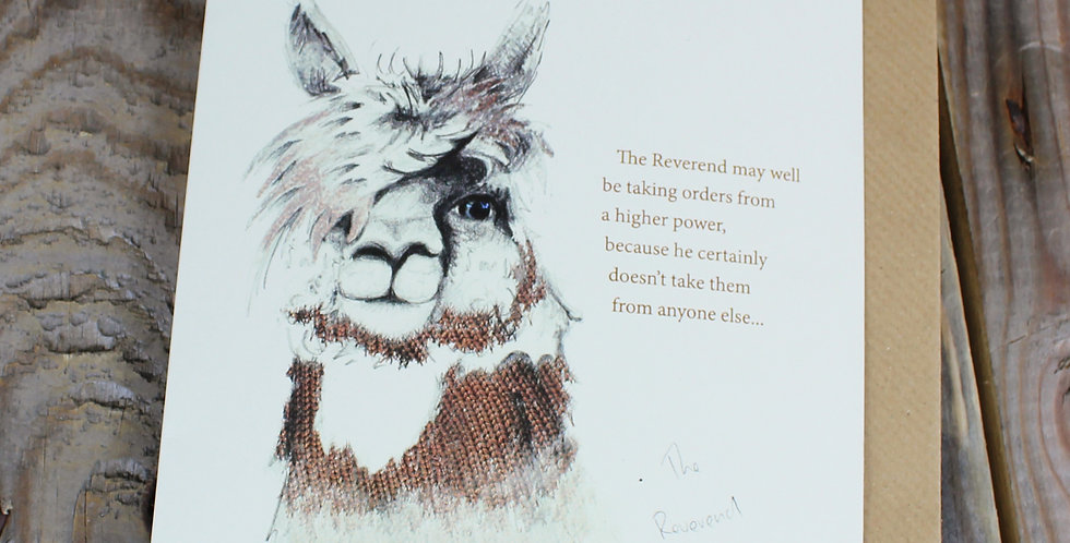 Alpacaly Ever After - The Reverend Greeting Card