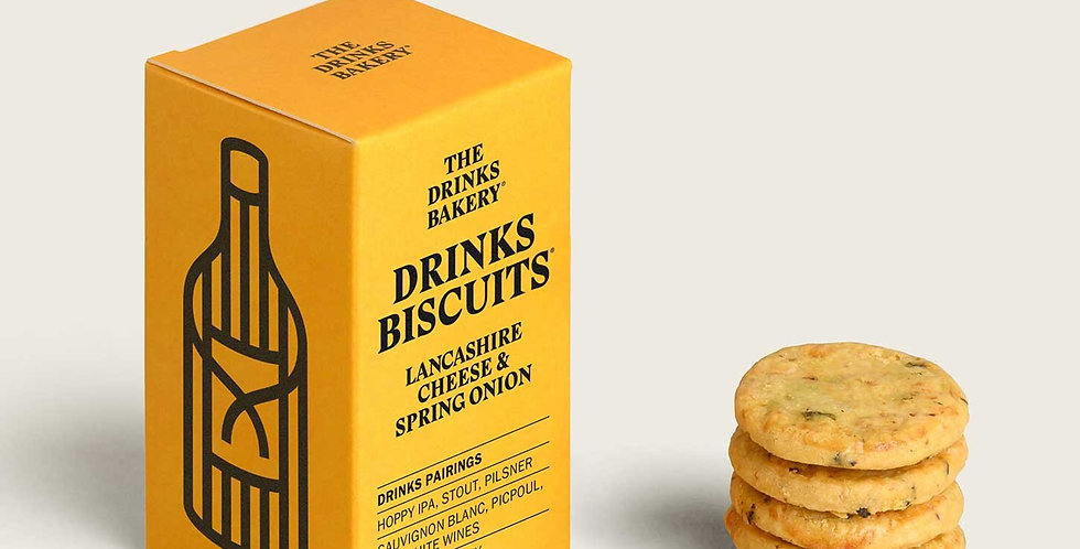 The Drinks Bakery - Lancashire Cheese & Spring Onion Savoury Biscuits - 100g