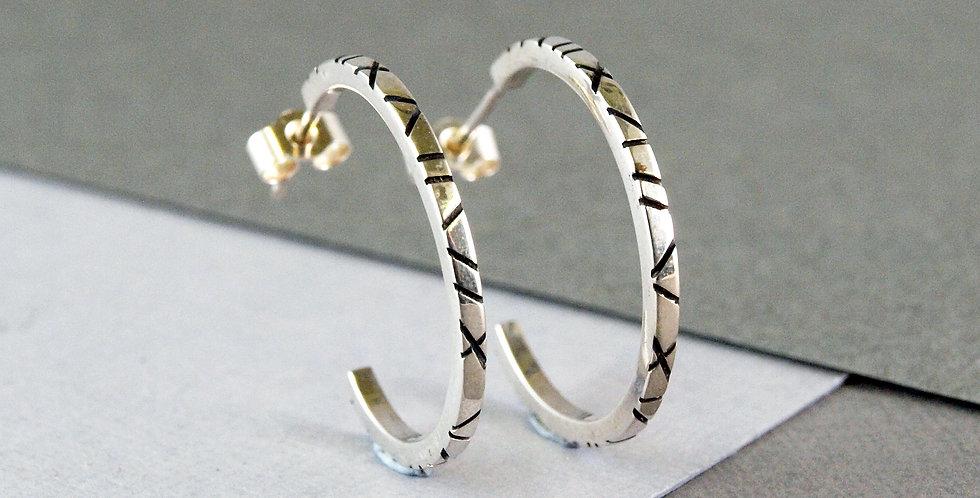 Emma Burfoot - Silver Large Hoop Earrings