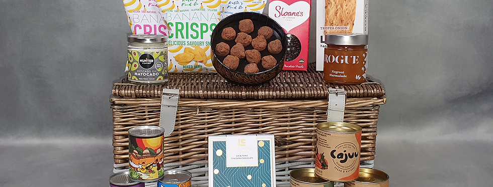 The Fetcham Park House Signature Vegan Hamper (supplied in a Straw Filled Box)