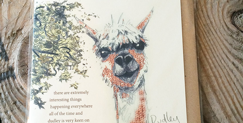 Alpacaly Ever After - Dudley Greeting Card