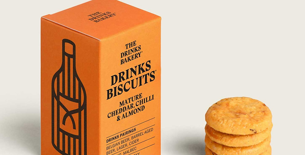 The Drinks Bakery - Mature Cheddar, Chilli & Almond Savoury Biscuit