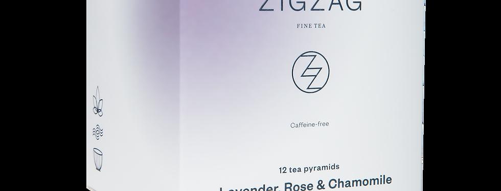 Zig Zag Fine Tea - Lavender, Rose & Chamomile - 200 Tea Bags