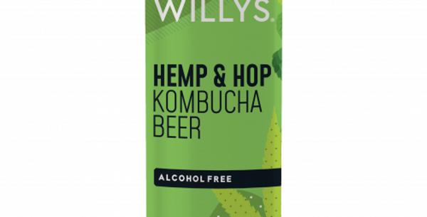 Willy's Kombucha Beer (Hemp & Hop) 12 x 250ml