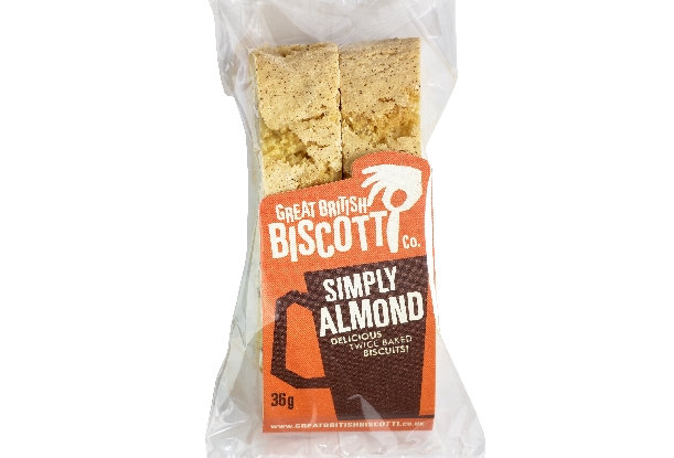 Simply Almond Biscotti Twin Pack - 5 x 36g
