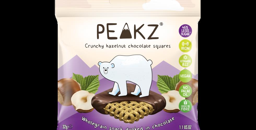 Peakz Hazelnut Chocolate Squares 32g x 6