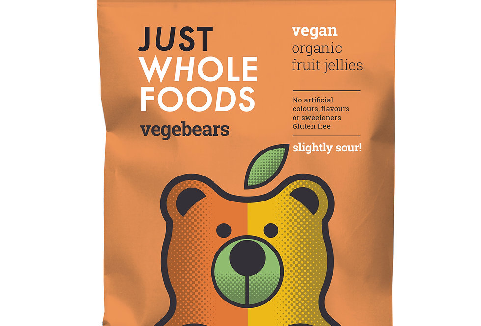 Just Whole Foods Slightly Sour Vegebears - 100g