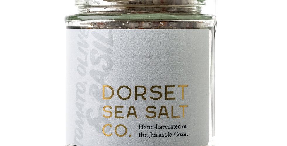 Dorset Sea Salt - Tomato, Olive & Basil - 125g