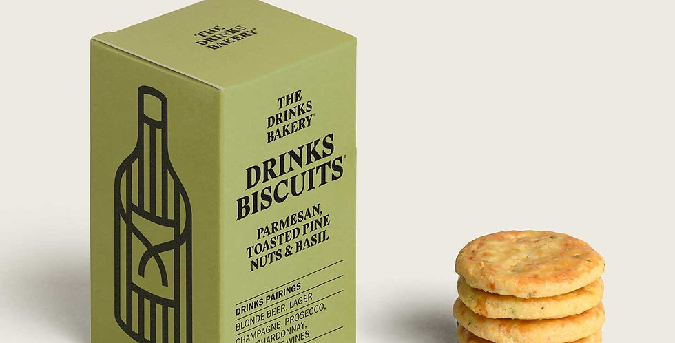 The Drinks Bakery - Parmesan, Toasted Pine Nuts & Basil Savoury Biscuit