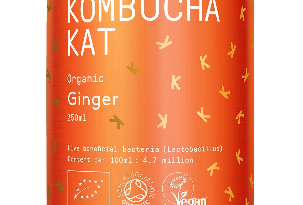 Kombucha Kat - Organic Ginger 4 x 250ml