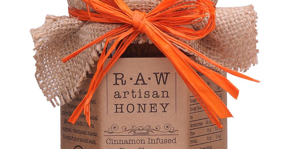 Raw Artisan Honey - Cinnamon Infused Honey - 220g