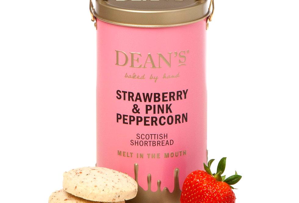 Dean's Shortbread - Strawberry & Pink Peppercorn Shortbread Rounds - 150g