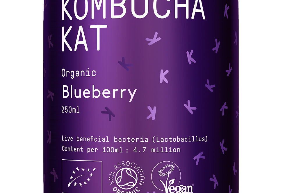 Kombucha Kat - Blueberry 4 x 250ml