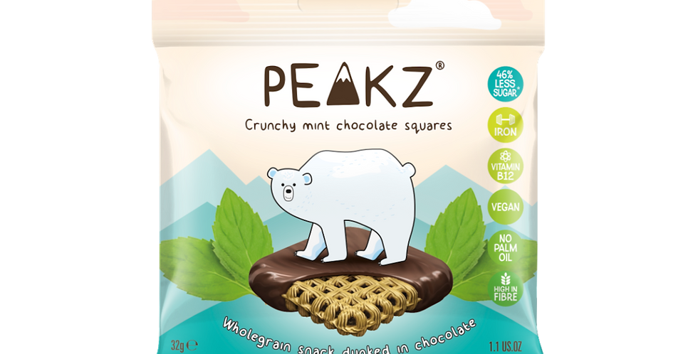 Peakz Mint Chocolate Squares 32g x 6