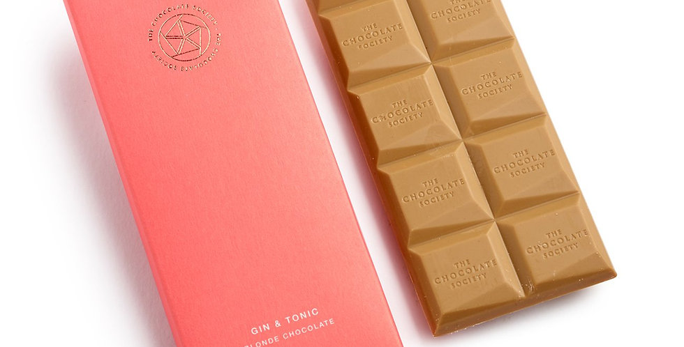The Chocolate Society - Gin & Tonic Blonde Chocolate - 65g