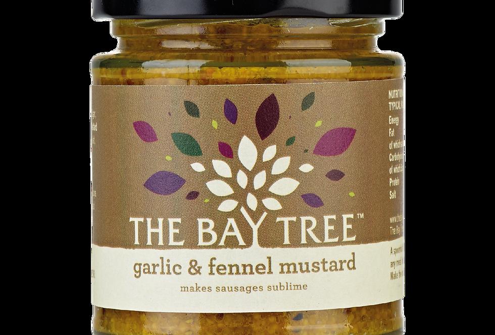 The Bay Tree - Garlic & Fennel Mustard - 180g