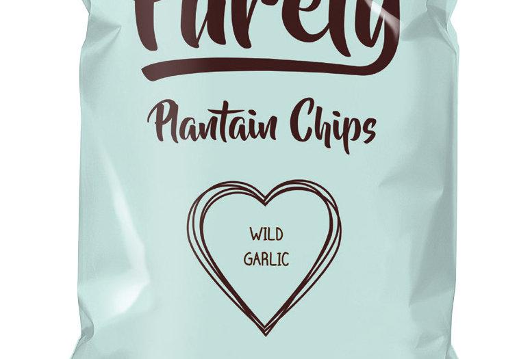Purely Plantain Crisps - Wild Garlic 75g x 12