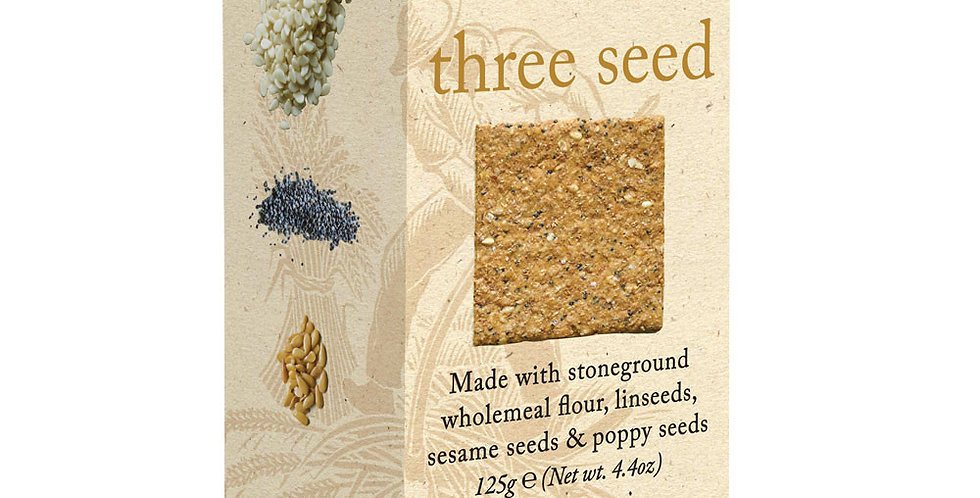 Miller's Harvest Three Seed Crackers - 125g