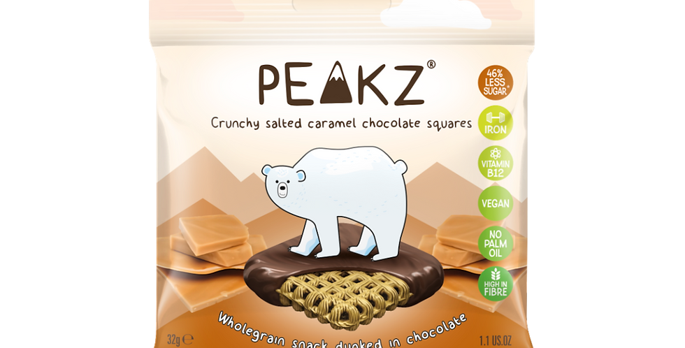 Peakz Salted Caramel Chocolate Squares 32g x 6