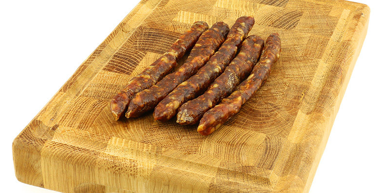 Spicy cider chorizo pokers with vintage Cheddar - £1.50 each