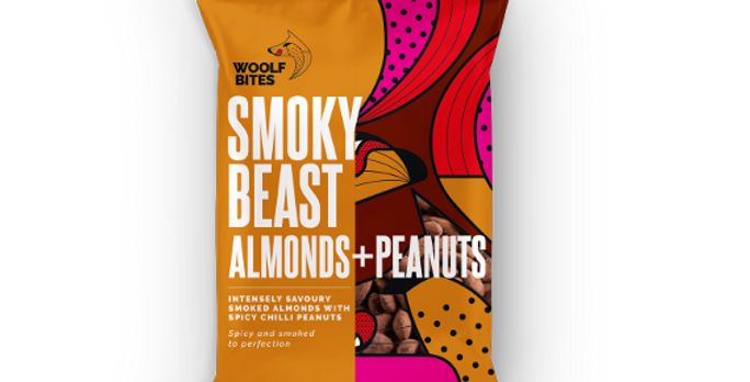 The Woolf's Kitchen - Smoky Beast Almonds & Peanuts (80g)