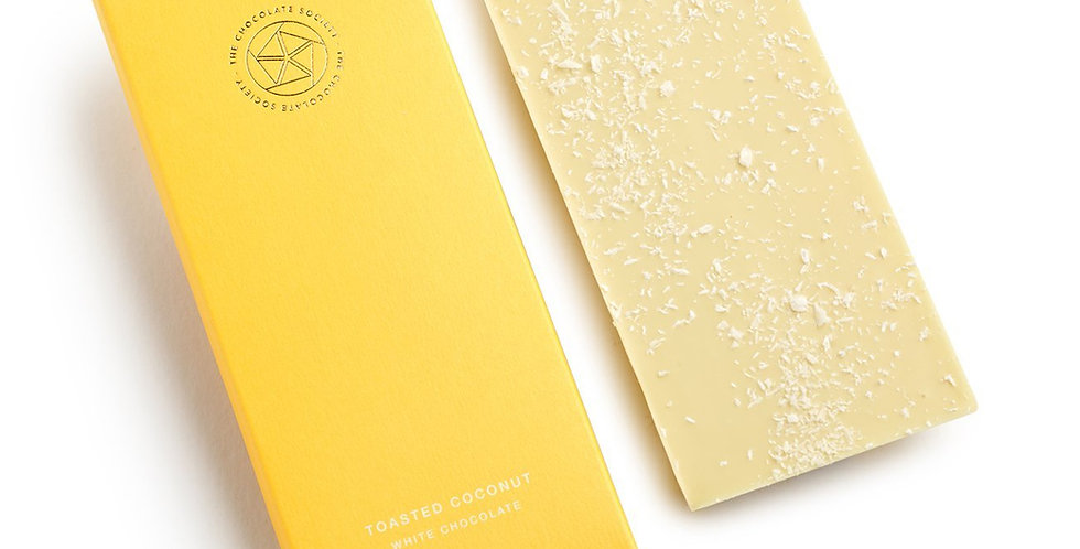 The Chocolate Society - Toasted Coconut White Chocolate - 65g