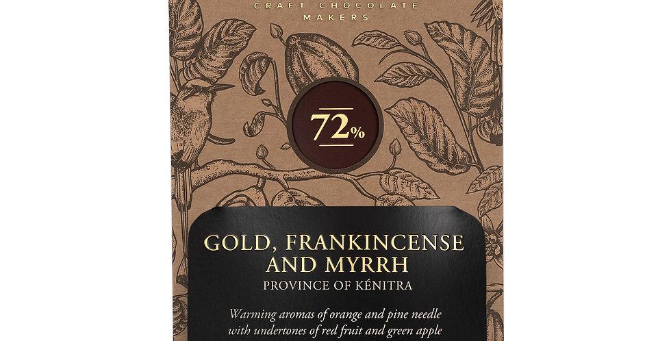Chocolarder - Gold, Frankincense & Myrrh 72% Dark Chocolate