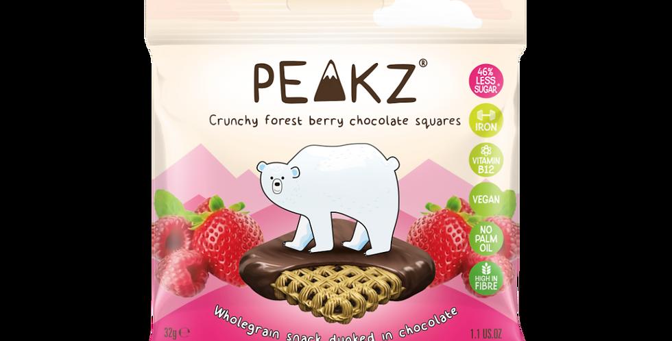Peakz Berry Chocolate Squares 32g x 6