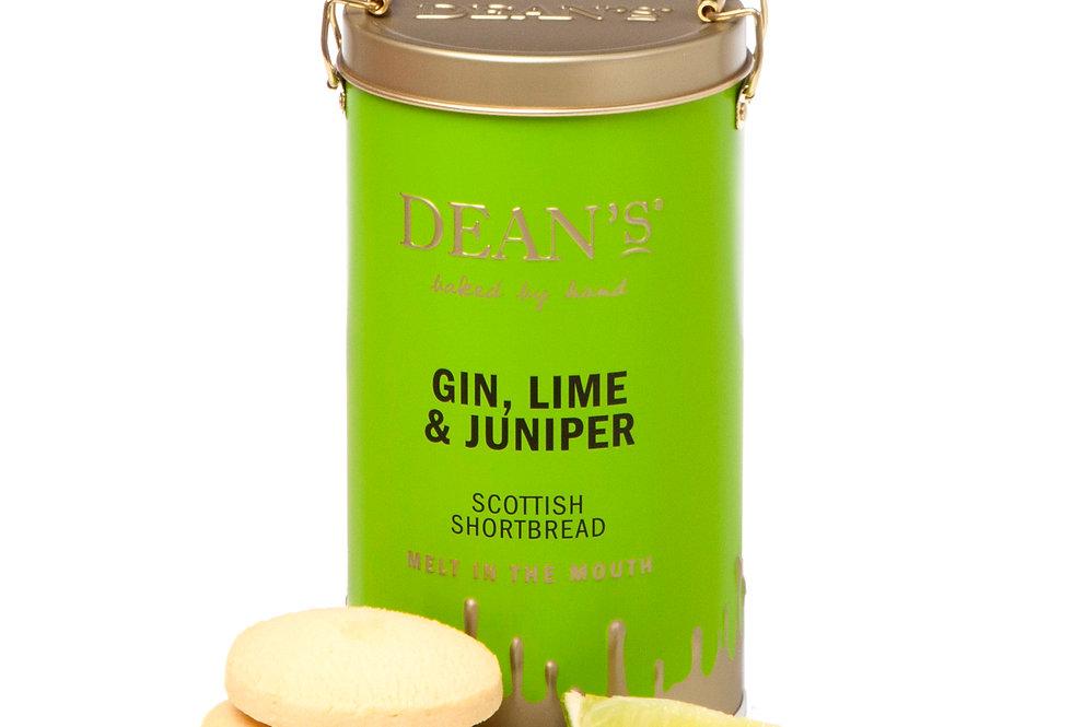 Dean's Shortbread - Gin, Lime & Juniper Shortbread Rounds - 150g