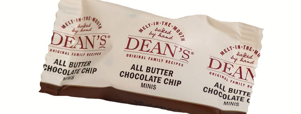 Dean's All Butter Mini Choc Chip Shortbread Rounds - 1kg