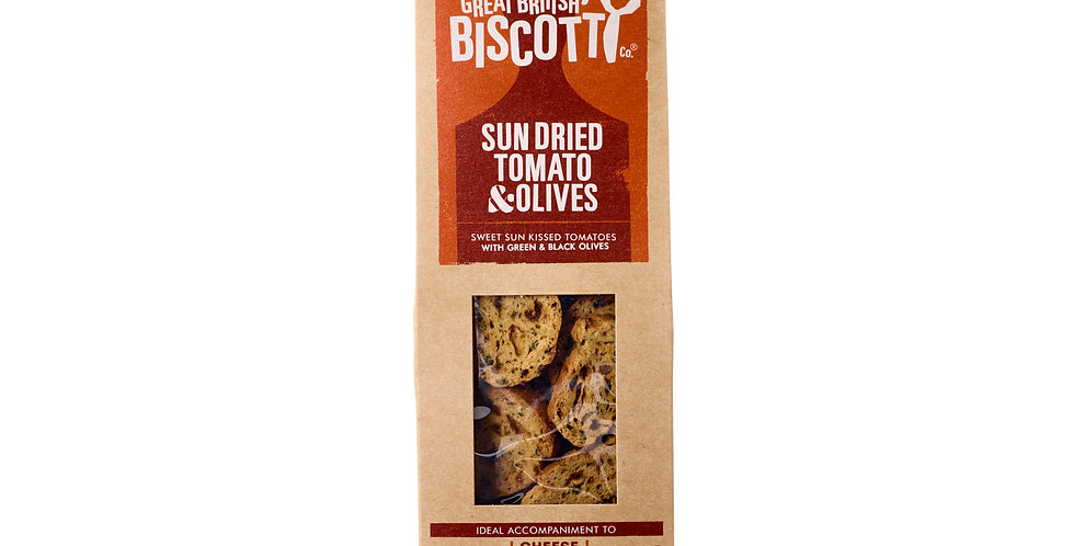 Great British Biscotti Company - Sun Dried Tomato & Olive - 100g
