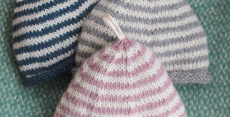 Hand Knitted Alpaca Baby Beanie