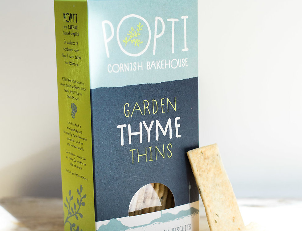 Popti Cornish Bakehouse - Garden Thyme Thins - 120g